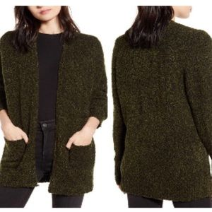 NWT Bp. Green marbled cardigan size small pockets